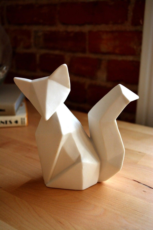 Ceramic Origami Fox