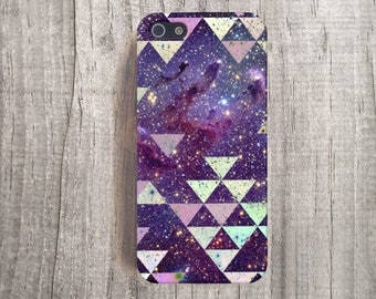 iPhone 5c Case, Galaxy iPhone4s Case iPhone 5 Case, Geometric iPhone Case, Space iPhone Case, Galaxy Print iPhone Case Triangle iPhone case
