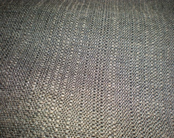 Beautiful Charcoal Grey, Textured Tweed,  Upholstery Fabric Remnant