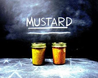 A Duo of Mustard - Artisan Mustard Gift Set - 2 Full Size Jars of Our Most Popular Artisan Mustard Varieties - Gift Set