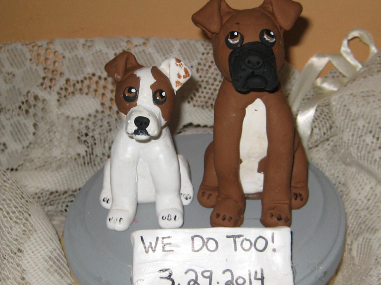 Custom Made Dog Wedding Cake Toppers Groom s Cake Jack