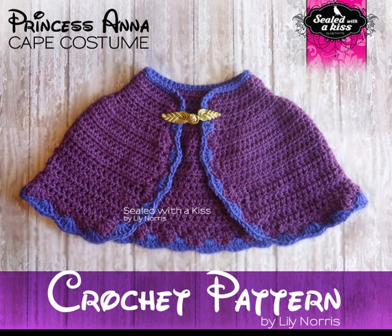 Free Crochet Pattern Elsa Cape : CROCHET PATTERN Only Cape pattern Queen Elsa Princess Anna