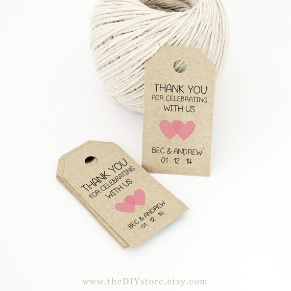 Wedding Favor Tag Wording Examples : ... Wedding Tag, Gift Tag - Wedding Labels - Hang Tags, DIY Digital