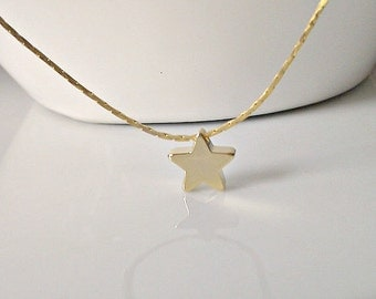 Gold Star Necklace, Tiny Star Charm Necklace, Bridesmaid Gifts, Gifts for Girls, British Seller UK, Bridesmaid Necklace, Bridal Shower Gifts