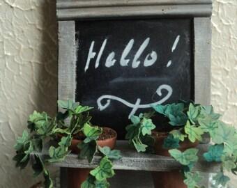 Dollhouse - Miniature - Chalkboard with pots