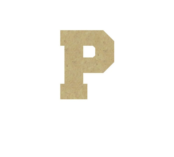 Decorative Wooden Letter P Unfinished Unpainted