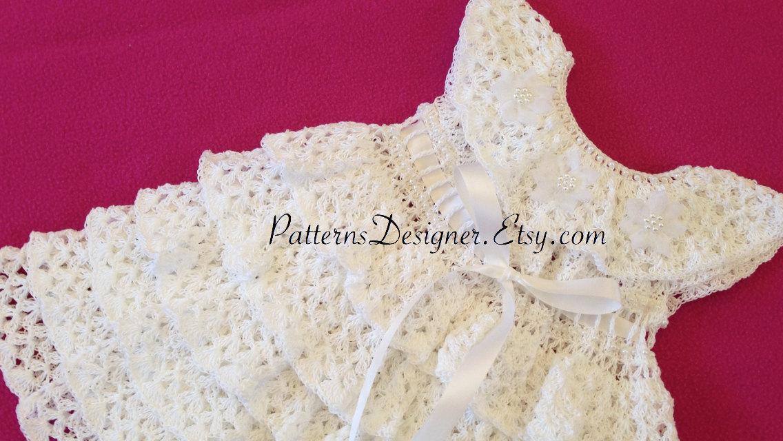 0-12 Months ORIGINAL DESIGNER PT060A Crochet Christening