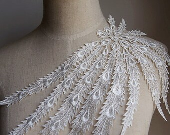 venice lace applique ,Jewelry design, rose lace applique