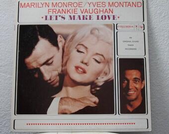 "Marilyn Monroe - ""Let's Make Love"" Original Soundtrack Recording vinyl record"