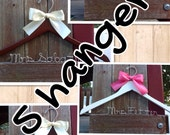 FIVE wedding hangers / SHIPS From USA / Personalized Wedding Hanger / Brides Hanger