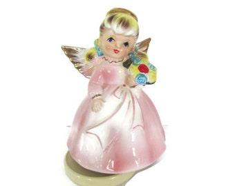 Vintage Happy Birthday Angel Figurine, 1960's Happy Birthday Girl Figurine, Music Box, Musical Birthday Figurine, Birthday Gift