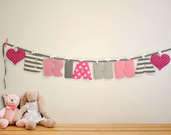 pink nursery wall letters girls room decor unique baby gift personalized nursery decor garland decorations custom name sign girls sign