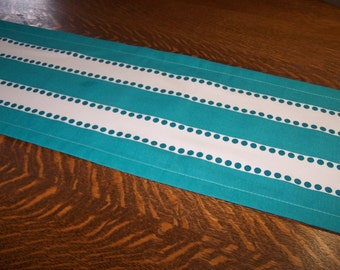 Table Runner, Table Cloth, Premier Fabric,  Turquoise, True Turquoise, Buffet Table Wedding, Stripe, Bridal Shower, Baby Shower