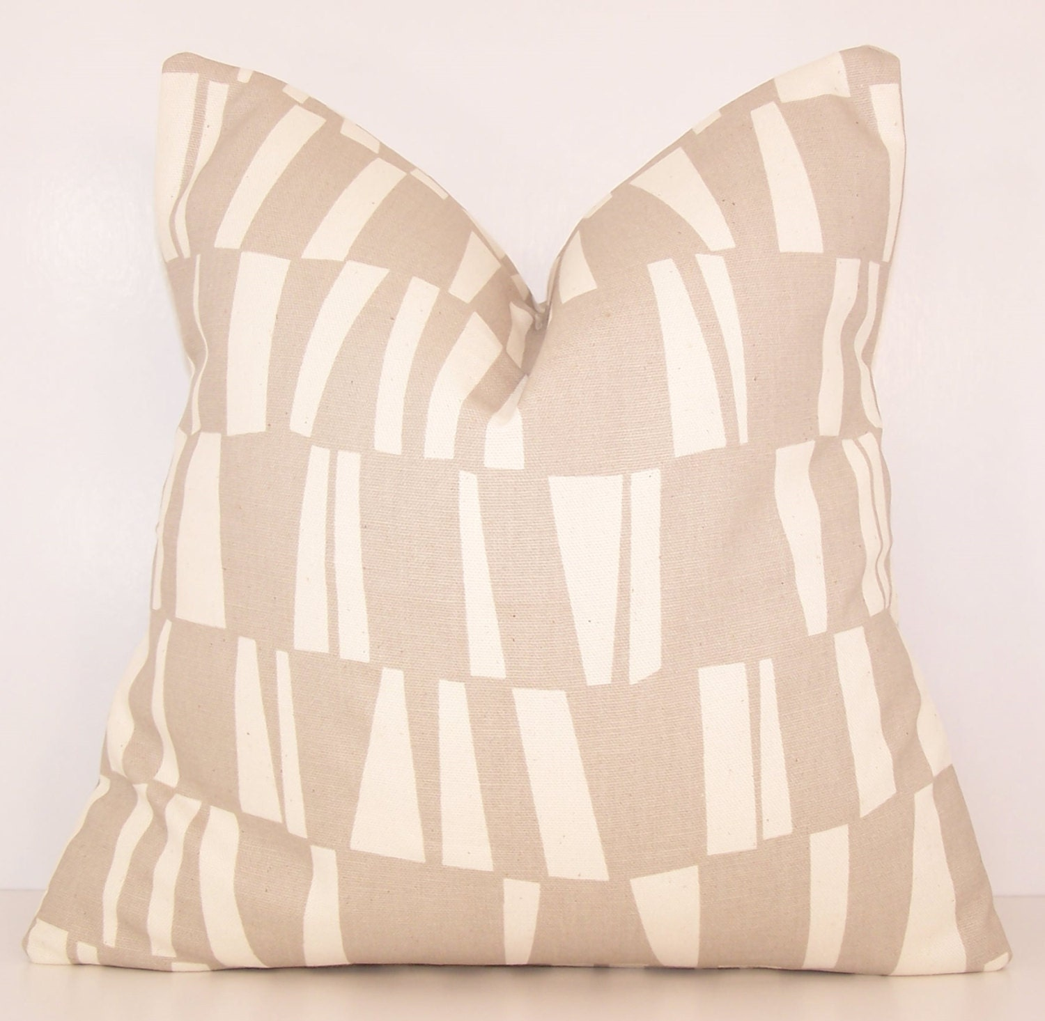 Beige Pillow Cover. Decorative Pillow. by Cathyscustompillows