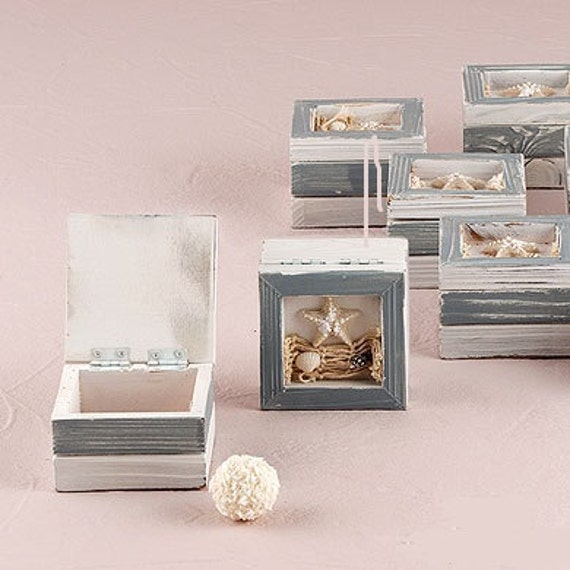 Items Similar To Beach Theme Wooden Trinket Boxes DIY Wedding Favors On Etsy