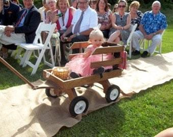 Classic Wooden Wedding Wagon
