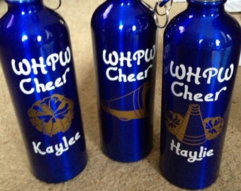 Personalized cheer water bottle