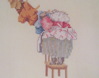 cross stitch beatrix potter mrs tiggy winkle washing line  CHART INSTRUCTIONS ONLY lakeland artist new