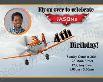 Printable Airplane Birthday Party Invitation - You Print DIGITAL FILE