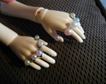 BJD Rings 4pack Pearls