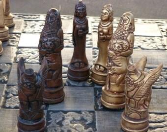 Epic of Gilgamesh Chess Set, Customisable Colours (Pieces Only) Mesopotamia. Babylonian. Enkidu