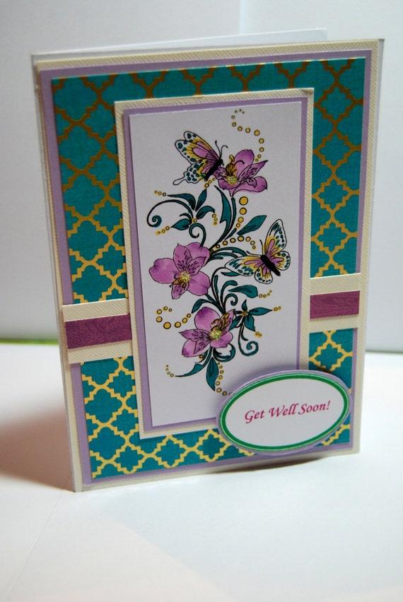 sympathy handmade card get well soon handmade card
