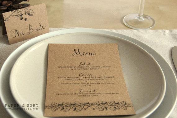 Articles similaires lot de 10 automne automne mariage for Idee menu reception amis
