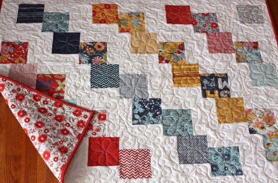 Falling Charms Baby Quilt Or Lap Quilt Handmade With Moda Pb Amp J