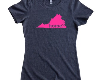 Virginia Home State T-Shirt Women's Tee PINK EDITION - Sizes S-XXL