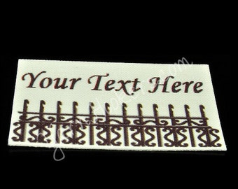 Row of Hookers - White Cotton Custom Printed Labels / Sew in Clothing labels / Personalized Fabric Labels - For Crochet, Knit, Sewing