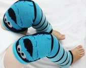 Cookie Monster Halloween Ombre Leg Warmers, Baby Toddler Costume,Christmas Gift, Halloween