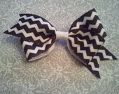 Boutique hair bows, You choose 1 color, girls hair bows, chevron hair bows