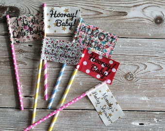 10 Celebration Flags - Perfect for Baby Showers