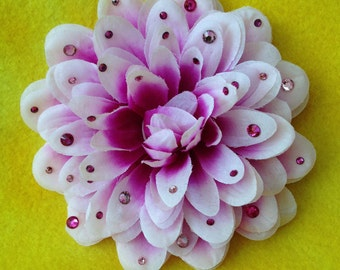 Rhinestone Flower Hair Clip