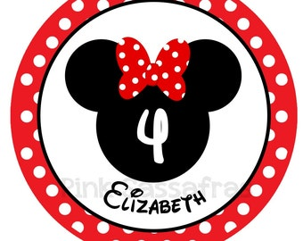 Minnie Mouse Birthday Iron On Transfer