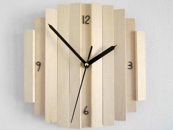 Items similar to romb iv wall clock silent quiet clocks - Homemade wall clock designs ...