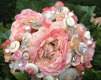 Alternative Alice in Wonderland Button Bouquet