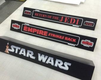 Custom Shelf Talkers in Vintage Star Wars style (SET OF 3)