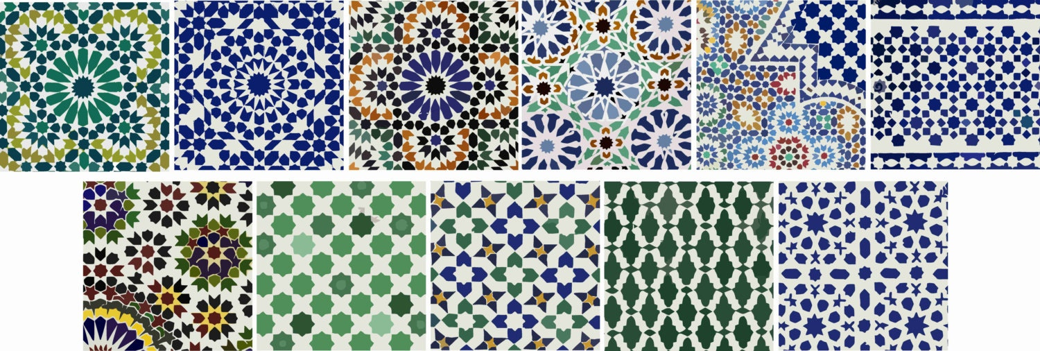 Moroccan Tile/wall Decal : Kitchen/ Bathroom/ Stair Moroccan