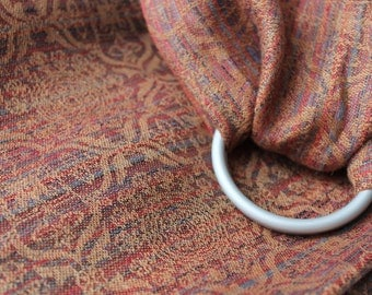 Custom Order Ring Sling, Baby Sling, Ruby Brown Sling, Linen Sling