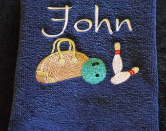 PERSONALIZED BOWLING TOWEL - Machine Embroidered
