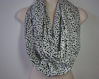 Black Dots Infinity Scarf