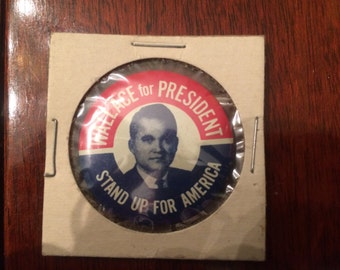 Vintage 'Wallace for President' - Campaign Pin