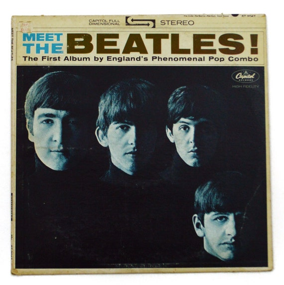 Vintage 60s Meet The Beatles Stereo Album Record Vinyl Lp