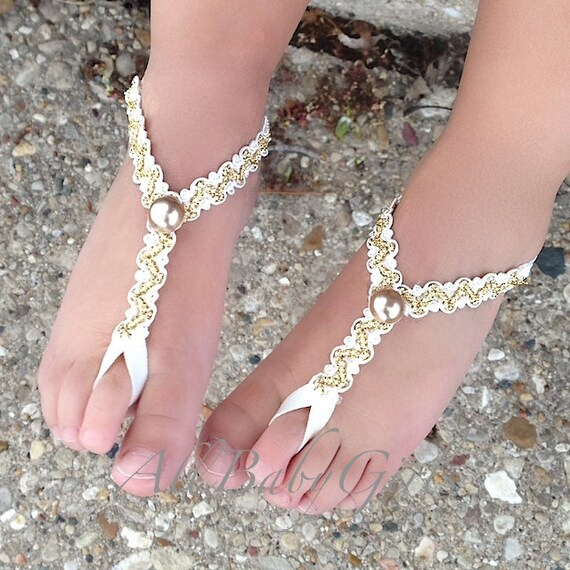 Gold Baptism Sandals, Christening Sandals, Infant Sandals, Baby Girl, Toddler Sandals, Baby Sandals, Gold Baby Shoes, Sandals for Babies