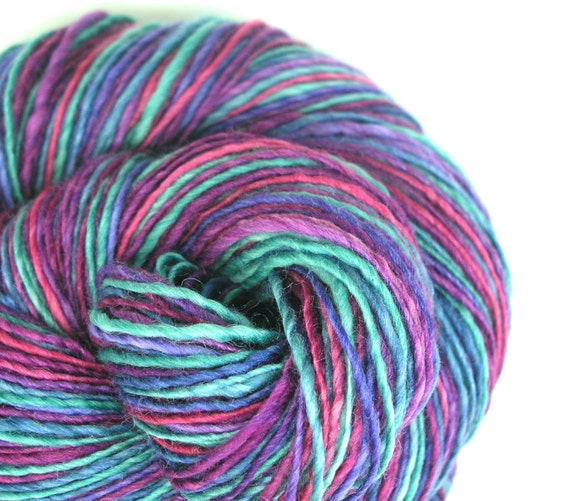 Yarn, Light Worsted Weight Yarn, Single Ply Yarn, Sport Weight Yarn ...