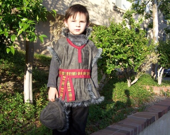 Kristoff themed boy's costume from Disney's Frozen renaissance faire