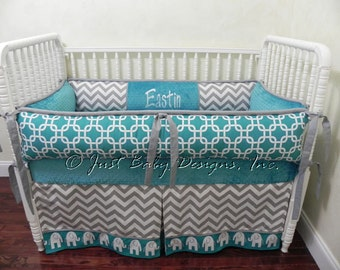 custom crib bedding etsy. Black Bedroom Furniture Sets. Home Design Ideas