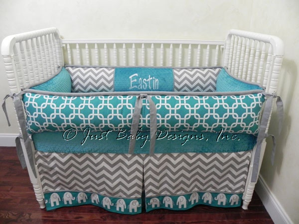 custom crib bedding set eastin boy baby bedding elephant