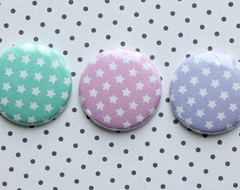 "3 badges 1 ""stars #1 Pastel"